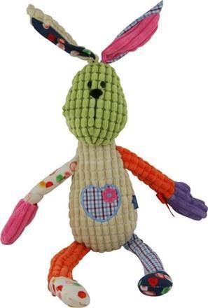 Plyšová hračka BABY MIX s chrastítkem - KRÁLÍČEK