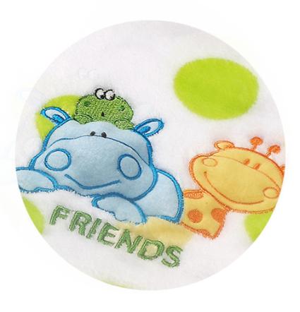 Veselá dečka z mikrovlákna Baby Ono - s pískátkem - KAMARÁDI