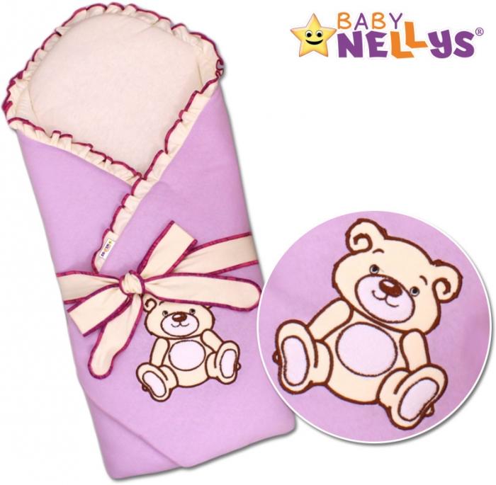 Zavinovačka s výztuží TEDDY BEAR Baby Nellys - jersey - lila