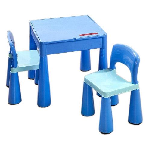 TEGA Sada nábytku pro děti - stoleček a 2 židličky - modrá