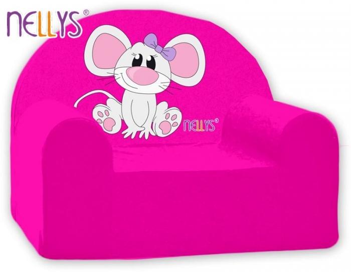 Dětské křeslo Nellys - Myška v růžové