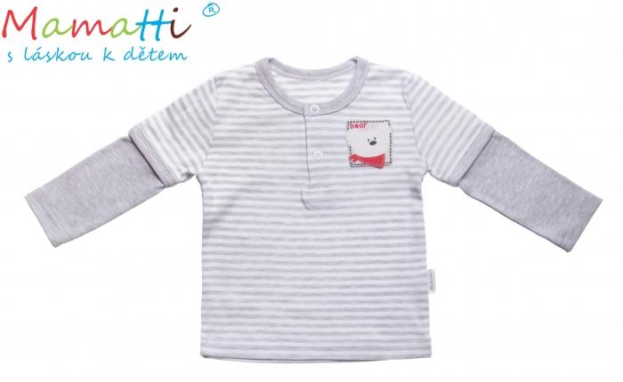 Bavlněné tričko/polo Mamatti - LEMUR