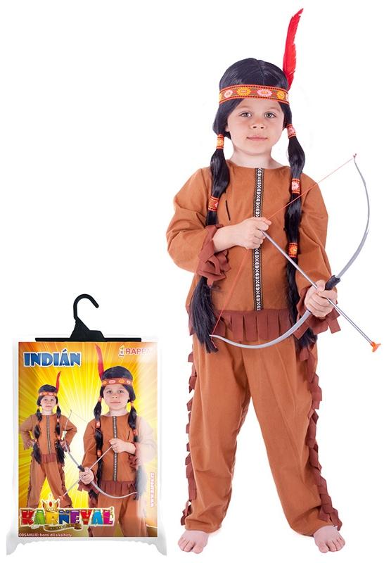 Karnevalový kostým indián se střapci, vel. M