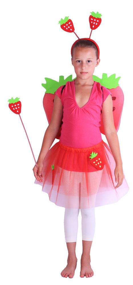 Karnevalový kostým jahůdka s křídly