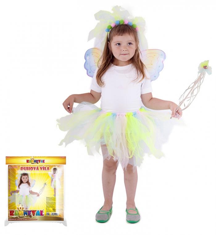 Karnevalový kostým duhová víla