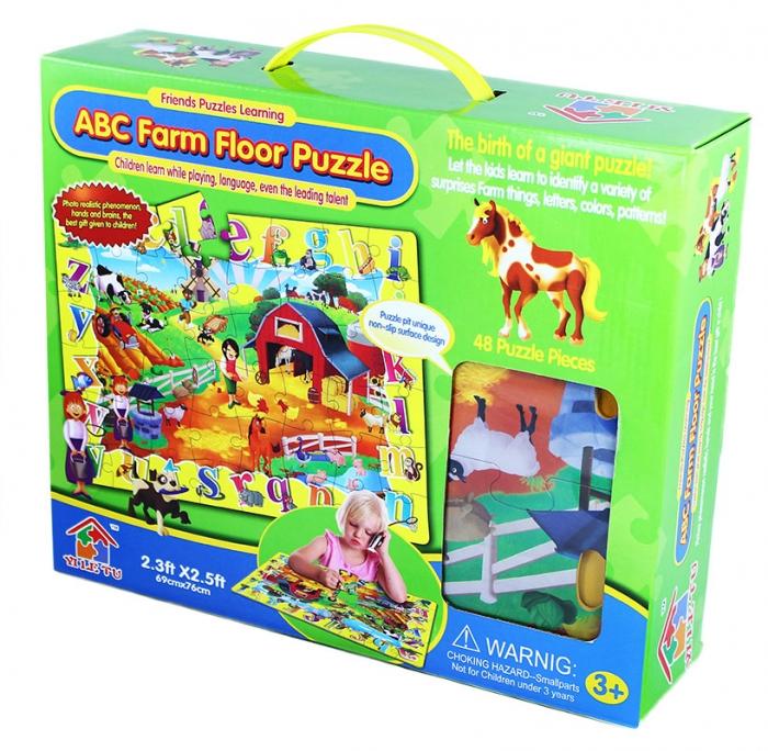 Puzzle 48 podlahové - zvířata