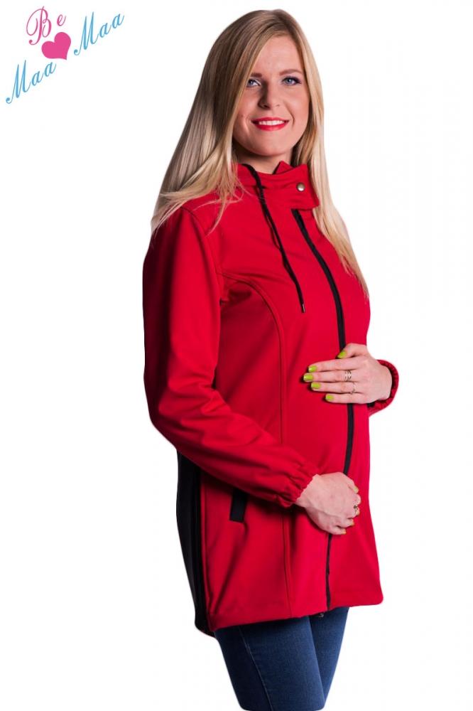 Be MaaMaa Těhotenská softshellová bunda,kabátek - červená