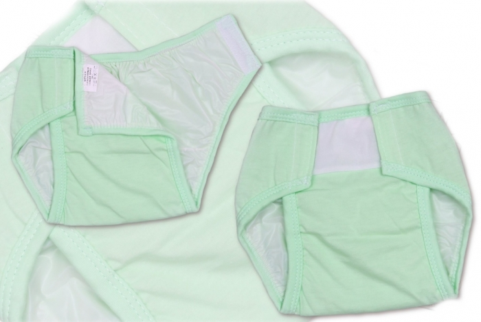 Plenkové kalhotky TERJAN - sv. zelené