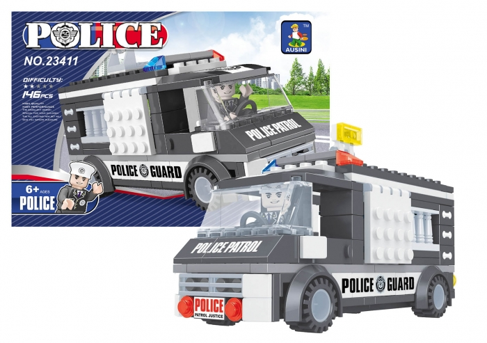 Stavebnice AUSINI policejní auto 146 dílů