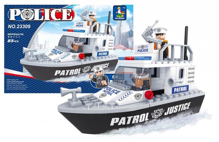 Stavebnice AUSINI policejní loď, 83 dílů