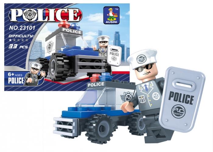 Stavebnice AUSINI policejní auto, 33 dílů