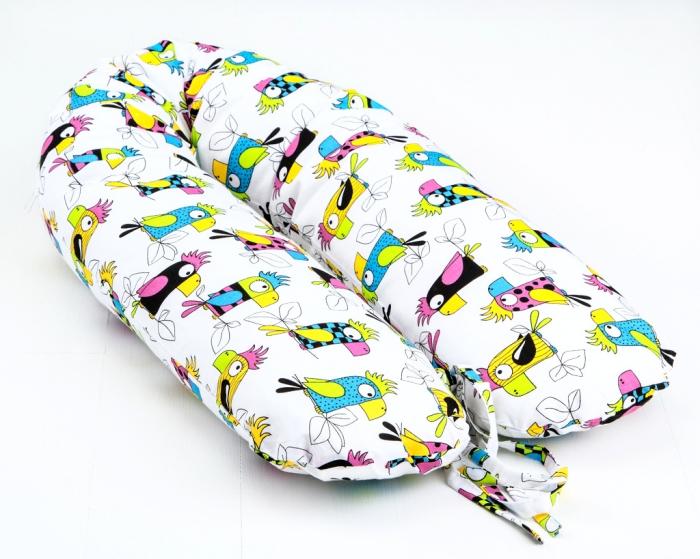 Kojící polštář - relaxační poduška Nellyska Multi - Papoušci