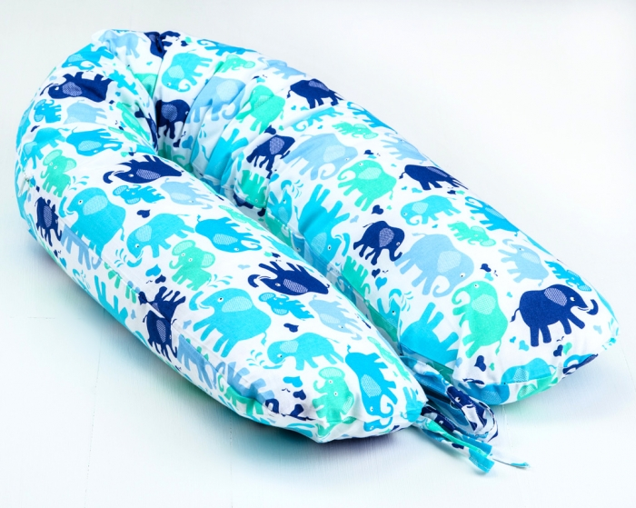 Kojící polštář - relaxační poduška Nellyska Multi - Elefantes