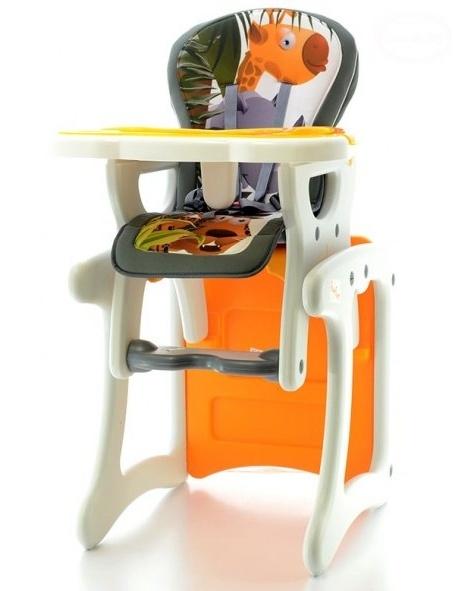 Jídelní stoleček - Žirafa oranžová