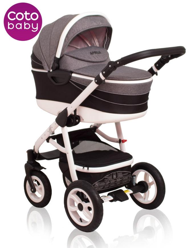 Kočárek APRILIA Coto Baby 2v1 - len black/grey