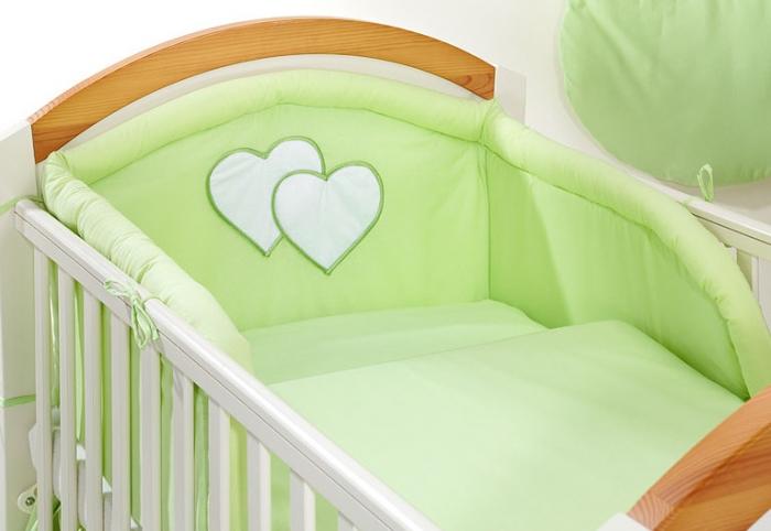 Bavlněné povlečení Srdíčko zelené