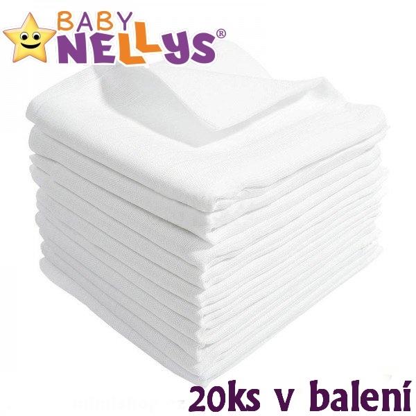 Kvalitní bavlněné pleny Baby Nellys - TETRA LUX 80x80cm, 20ks v bal.