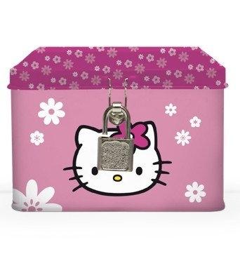 Pokladnička kovová, hranatá Hello Kitty