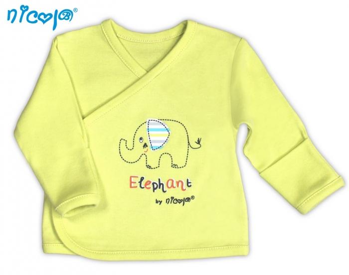 Novorozenecká košilka NICOL Slon