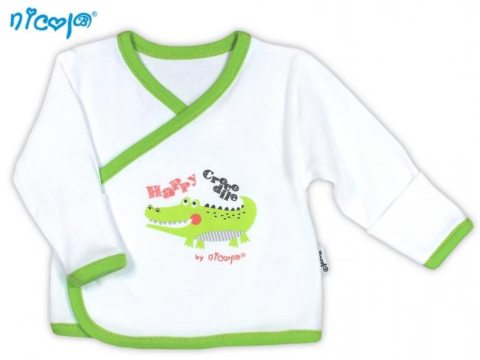 Novorozenecká košilka NICOL Šťastný krokodýl