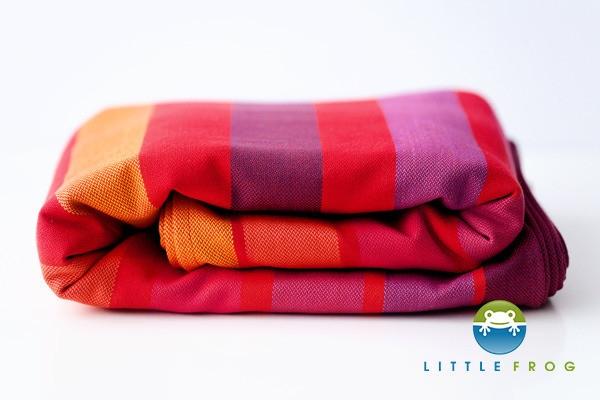 Little FROG Tkaný šátek na nošení dětí - Raspberry Rhodonite