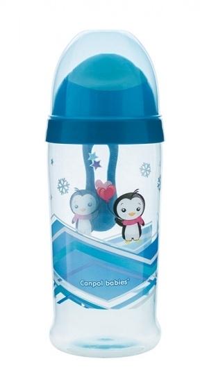 Sportovní nekapající láhev Canpol Babies - modrá
