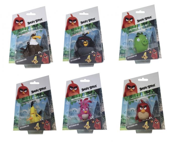 Angry Birds 3D figurka s přívěškem, 7 - 8,5 cm
