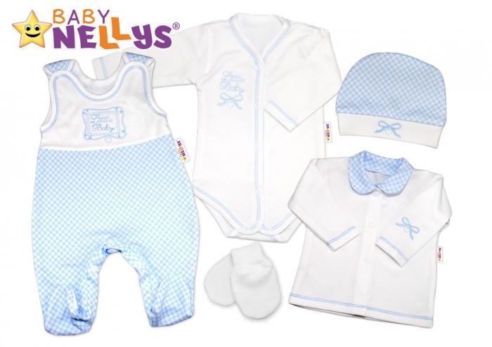 Souprava do porodnice Baby Nellys ® - Little Baby - modrá kostička