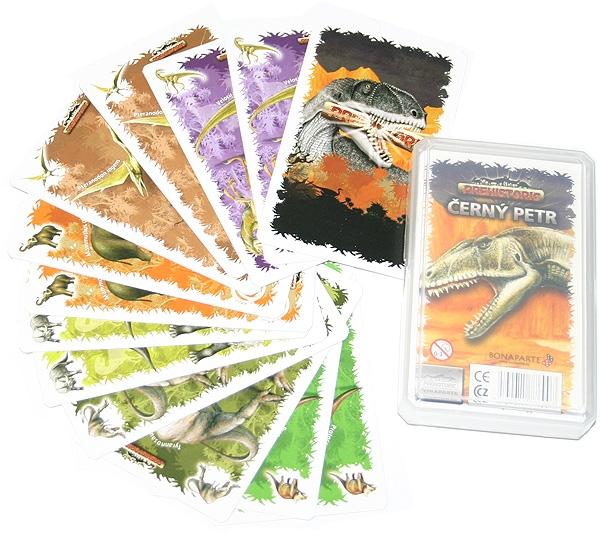 Karty Černý Petr-Prehistoric dinosaurus