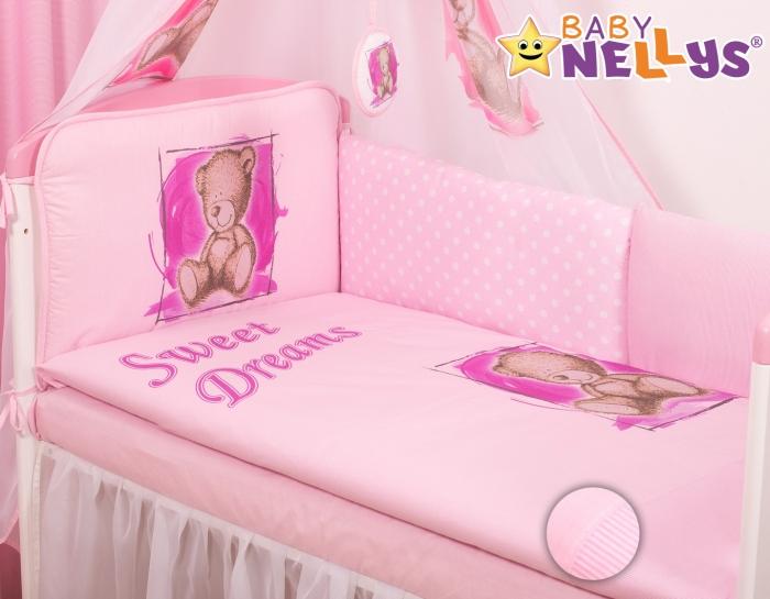 Mantinel 420cm s povlečením Sweet Dreams by Teddy - růžový