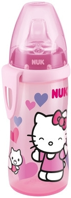 Lahvička NUK 300 ml + dudlík - Hello Kitty