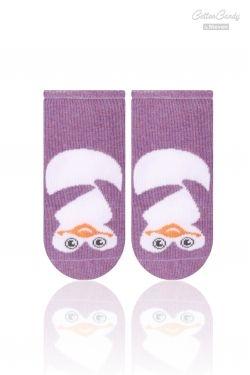 Kojenecké ponožtičky CANDY - Tučňák - fialová