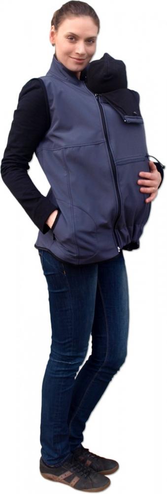 Vesta pro nosící, těhotné - softshellová - tm. šedá