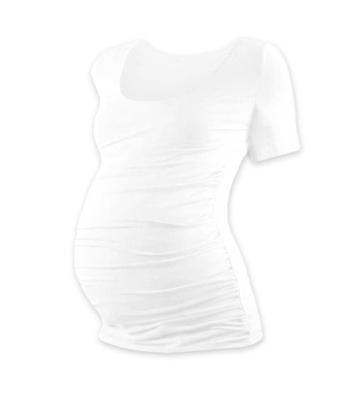 Těhotenské triko krátký rukáv JOHANKA - bílá