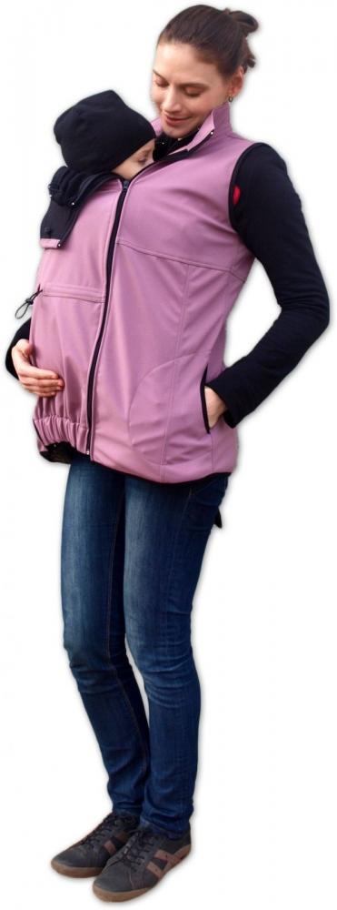 Vesta pro nosící, těhotné - softshellová - růžová