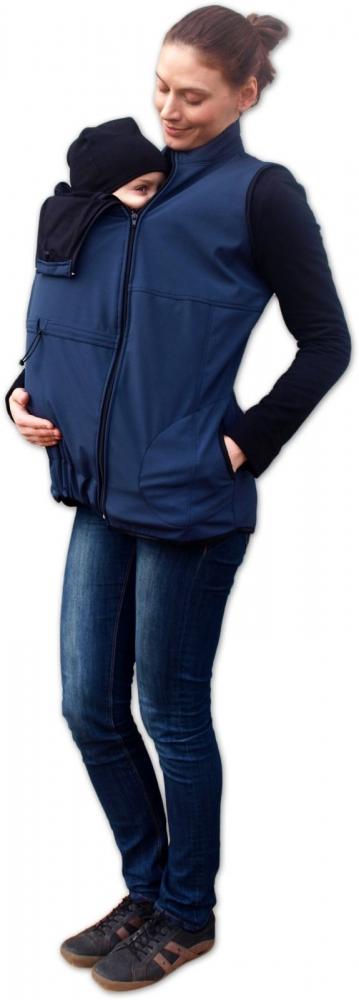 Vesta pro nosící, těhotné - softshellová - tm. modrá