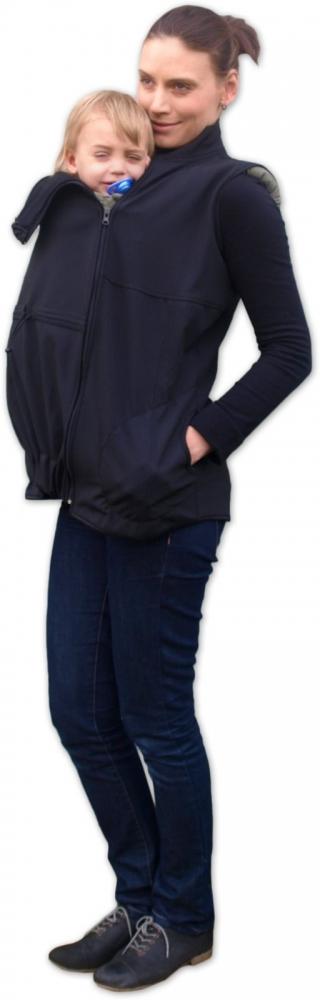 Vesta pro nosící, těhotné - softshellová - černá