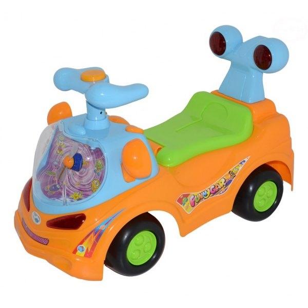Odstrkovadlo,odrážedlo, jezdítko - FUNNY CAR - oranžové