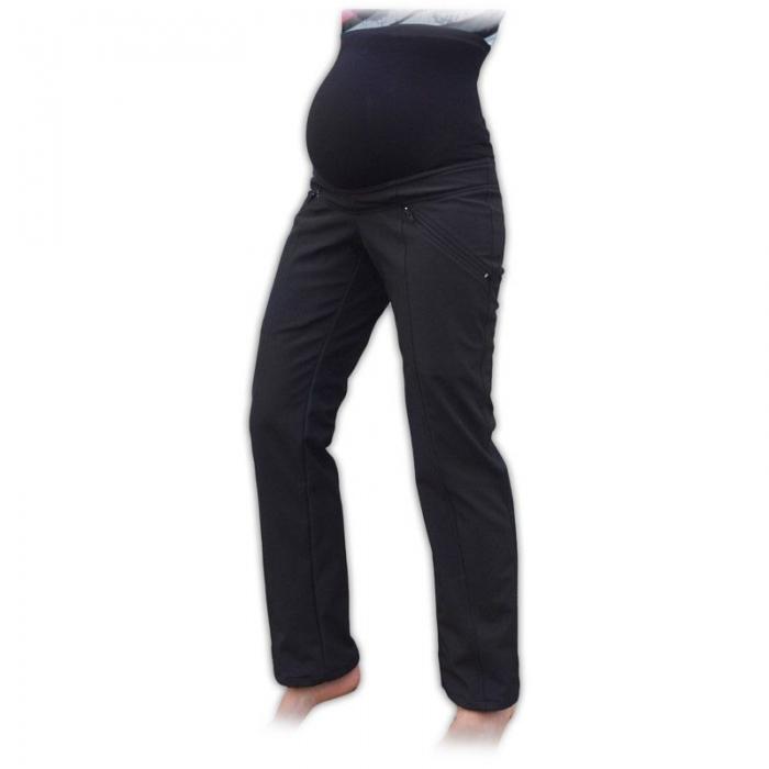 Sportovní těhotenské oteplené softshellové kalhoty