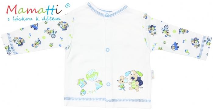 Bavlněná košilka Mamatti - DOG - bílá/potisk pejsek