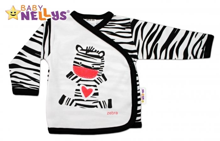 Bavlněná novorozenecká košilka ZEBRA Baby Nellys ®