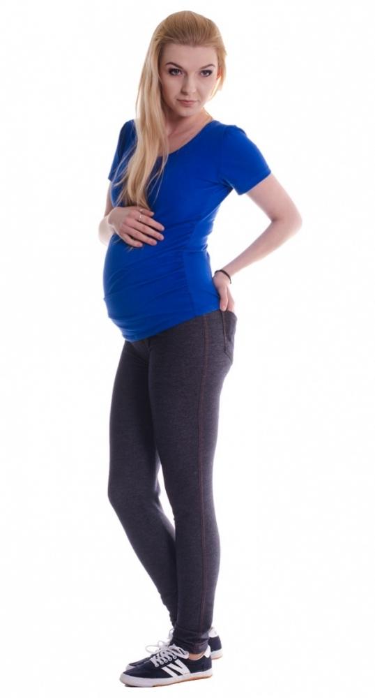 Těhotenské legíny ala JEANS - black