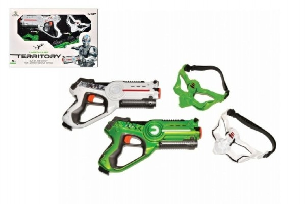 Territory laser game - double set (2 pistole, 2 masky) plast na baterie v krabici 58x