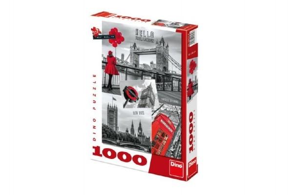 Puzzle Londýn - koláž 1000 dílků 47x66cm v krabici 37x27x5cm