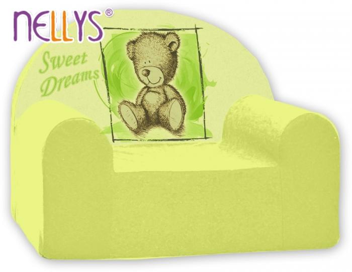 Dětské křeslo Nellys - Sweet Dreams by TEDDY - zelené