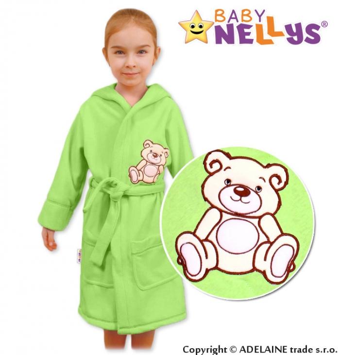 Dětský župan - Medvídek TEDDY BEAR - zelený