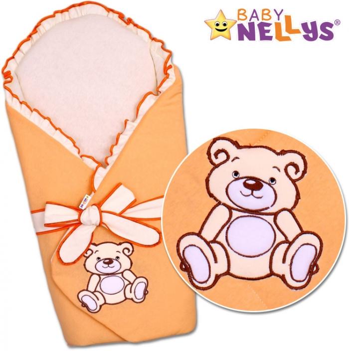 Zavinovačka s výztuží TEDDY BEAR Baby Nellys - jersey - losos/meruňka
