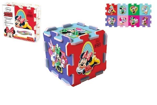 Pěnové puzzle Minnie 32x32x1,5cm 8ks