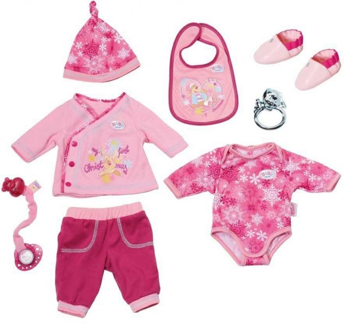 Oblečení BABY born narozeninová vánoční souprava