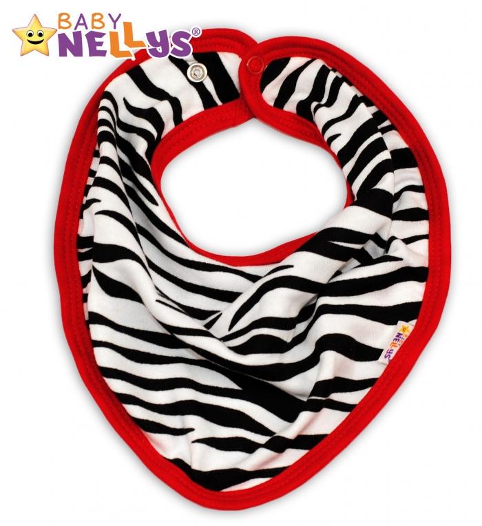 Bavlněný šátek na krk ZEBRA Baby Nellys ® 37a371aba2